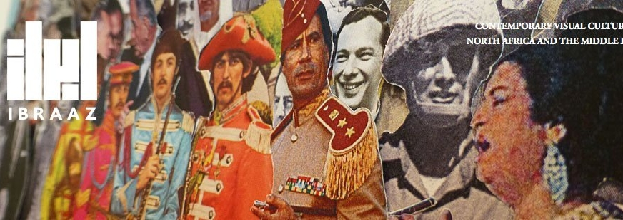 Ibraaz banner. Image: Michael Rakowitz, Detail of The Breakup, 2012, original Sgt.Pepper's Lonely Hearts Club Band album cover (1967) magazine color printouts, 12 x 12 inches, 30.5 x 30.5 cm. Courtesy the artist and Lombard Freid Gallery.