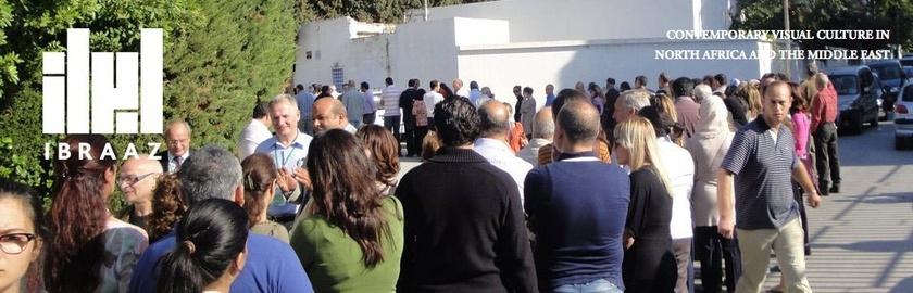 Ibraaz banner. Image: Election Day, Tunis, 23 October 2011. Courtesy and © Lina Lazaar / Ibraaz.