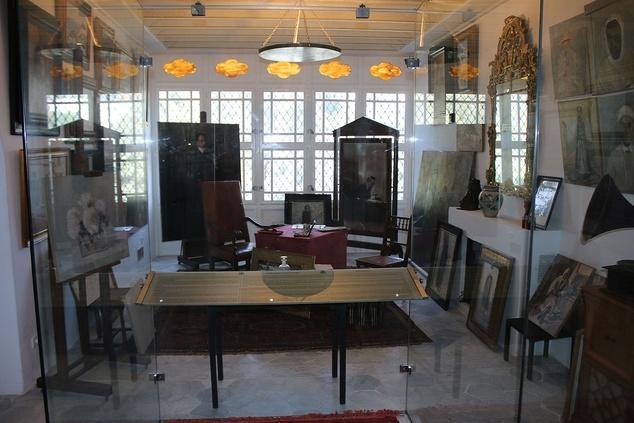 L'atelier de peinture du baron Rodolphe d'Erlange.