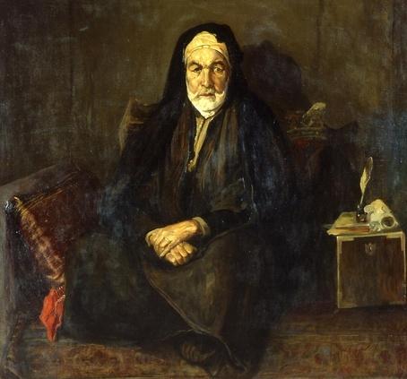 Rodolphe d'Erlanger, Portrait de l'architecte de son altesse le bey, huile sur toile, 140x152 cm.