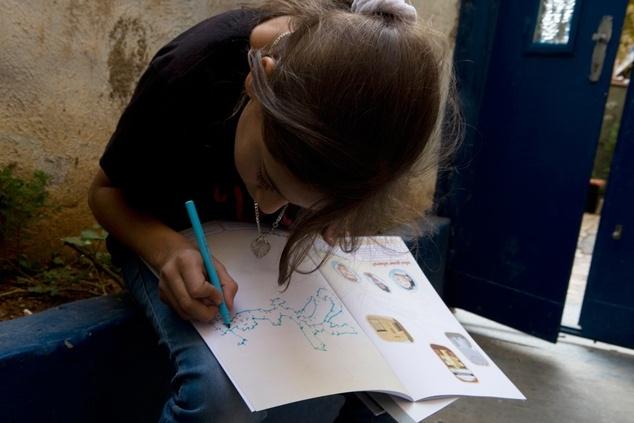 Activité livre pour enfants, Jerusalem Show VII . Photo: Issa Friej.