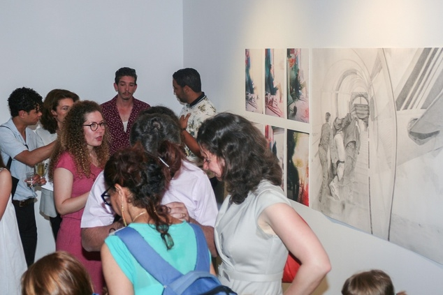 Jaou Tunis 2014, visit of Al Marsa Galery (la Marsa). Image courtesy of Kamel Lazaar Foundation.