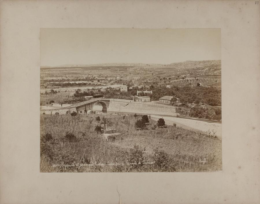 Beyrouth et Jardin de Rustin Pacha pris de la route de Damas . ®The Fouad Debbas Collection, Beirut. Used with permission.