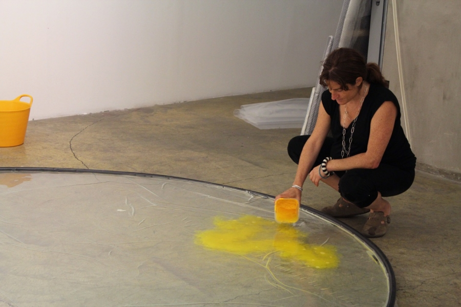 Sibel Horada, A Void in Retrospect, installation, 25 August 2015. Photo: Anna Zizlsperger.